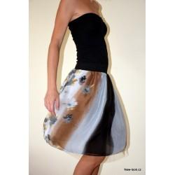 Šifonovo-tylová sukně -...