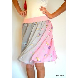 Šifonovo-tylová sukně - BUTTERFLY YOU