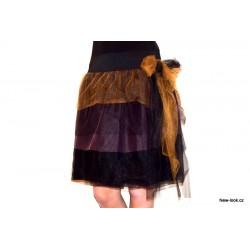 Tylová/tutu vrstvená sukně