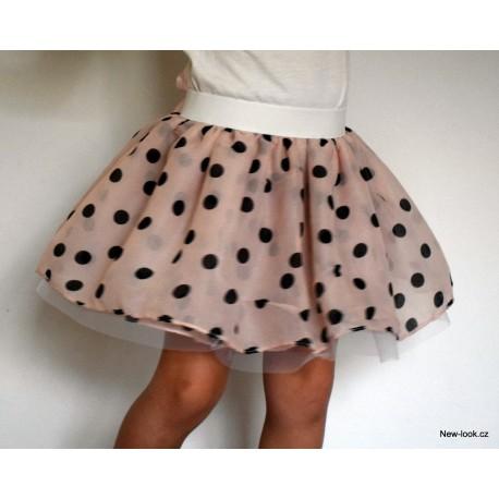 Šifonovo-tylová sukně -GIRL DOT LAMBADA